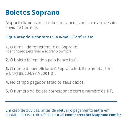 Aviso Boleto - Soprano