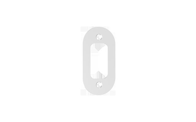 ROSETA R48 OVAL C/FURO EXT BRANCO  - Soprano