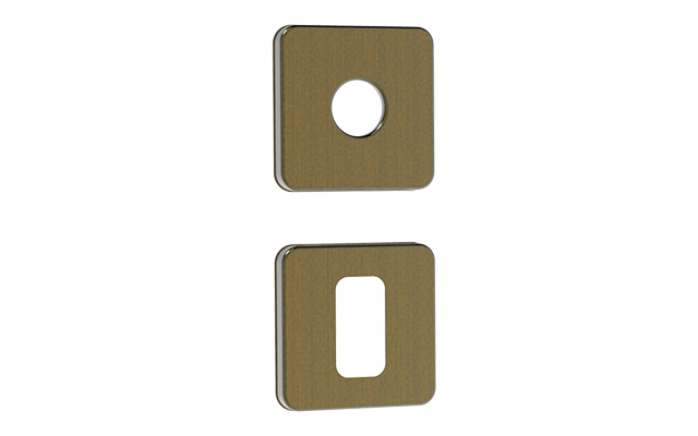 ROSETA R24 QUADRADA S/FURO EXT ANTIQUE BRASS - Soprano