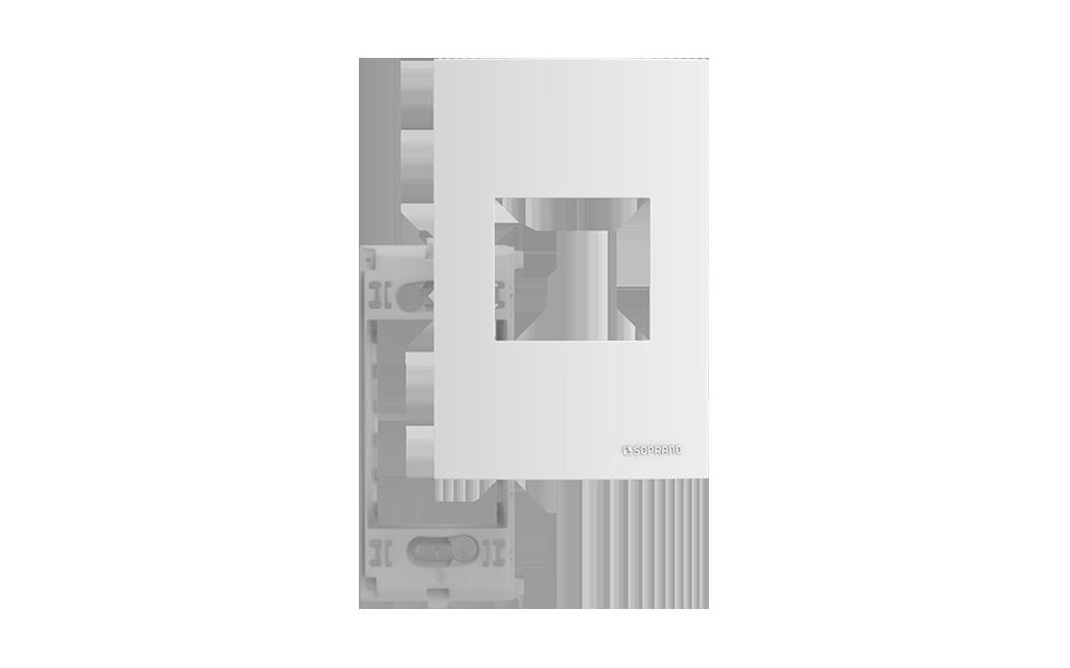 PLACA 4X2 2 MODULOS ATRIA + SUPORTE - Soprano