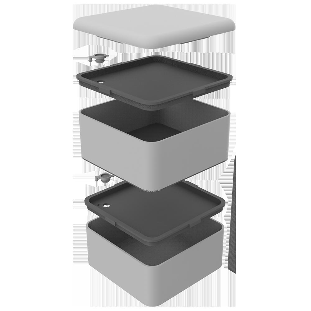 MARMITA BOX 1,5L CINZA - Soprano