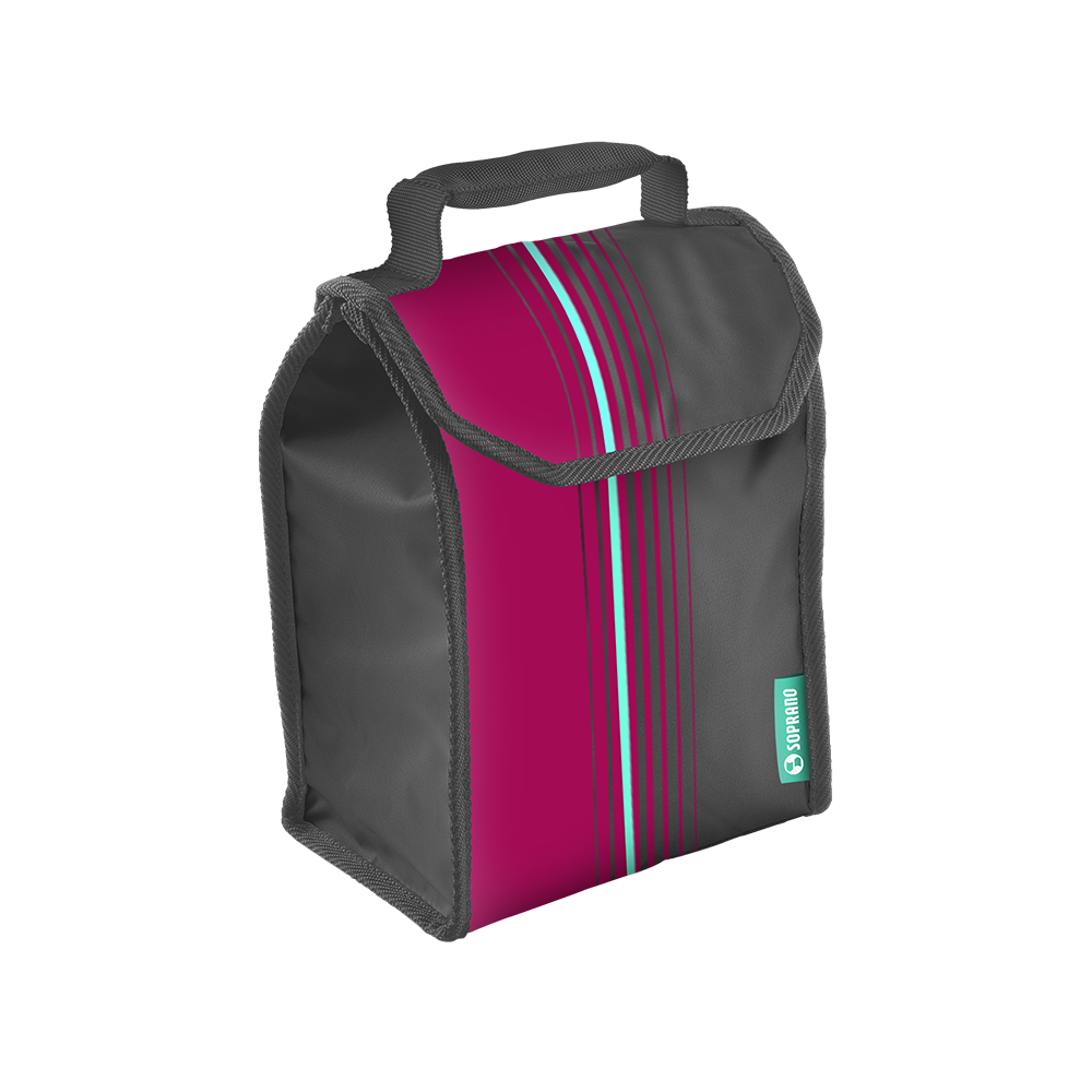 BOLSA TERMICA LUNCH POP 4,2L ROSA - Soprano